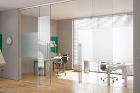 office partition glass partitions with sliding door