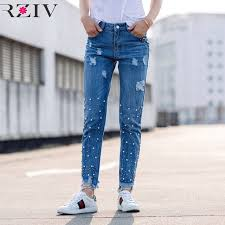 Rziv 2017 <b>джинсы</b> женские повседневные модные однотонные ...