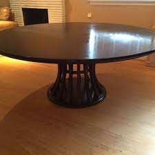 unthinkable crate and barrel round dining table best 72 monroe ebony chestnut coffee mirror rug glass tablecloth placemat ottoman wood