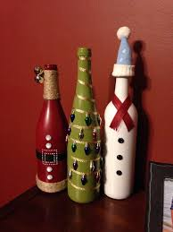 Christmas Wine Bottle Vases By LaLaCreations4 On Etsy  Wine Wine Bottle Christmas Crafts