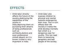 effects of child labour essays essay types and definitions effects of child labour essays