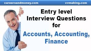 Entry Level Interview Questions For Accounts Accounting Finance