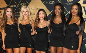 houston tx february 04 models pose at the maxim super bowl party on