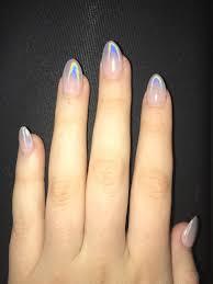 Holographic Ombre Nails Almond Nails Nehty Und Krásné Nehty