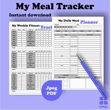 Daily Food Planner Meal Planner Week Meal Planner Daily Meal Planner Food Etsy