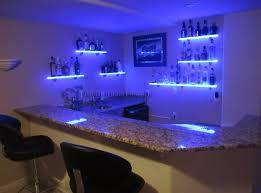 Led Floating Glass Shelves Enchanting Bar Floating Glass Shelf With Stunning Led Lighting Floating Glass