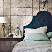 grey bedroom ideas metallic wallpaper