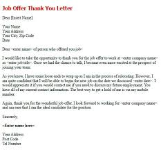 Thank You Job Offer Acceptance Refusing A Job Offer Alternative Email Sample Decline Reply With