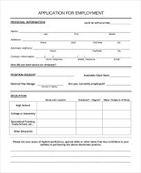 Job Applications Sample Sample Job Application Template Business