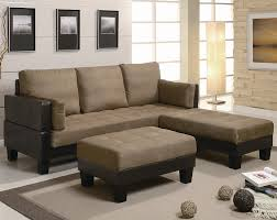 Two Tone Living Room Furniture Contemporary Two Tone Brown Microfiber Convertible Sofa Bed With