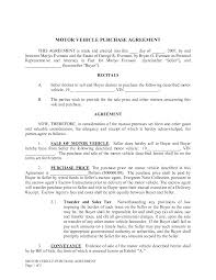 Purchase Agreement Samples Effective Auto Sales Contract Template Agreement Form Pdf Xymetri 23