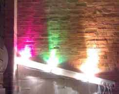 wall lighting effects. 3 Spotlights Point Up On Brick Wall Lighting Effects