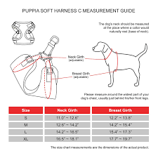 Puppia Soft Dog Harness Sizing Chart Puppia Soft Harness C