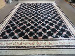 details about 8 8 x 12 american made karastan flower garden of eden black 509 1270 wool rug