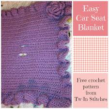 easy car seat blanket pattern free pattern