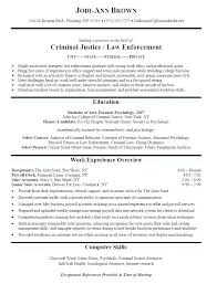 Law Enforcement Resumes For Recent Graduates A Good Resume Example