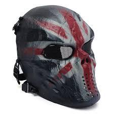 Elfeland Tactical Airsoft Mask Overhead Skull Mask <b>Outdoor</b> ...