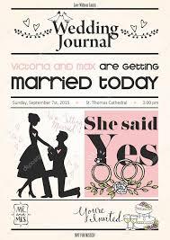 Wedding Invitation Newspaper Template Newspaper Wedding Invitations Vintage Newspaper Or Journal