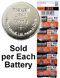 Maxell Batteries Lr44 A76 Ag13 Alkaline Button Size