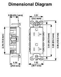 16252 e 5 15r Outlet Diagram dimensional data � wiring diagram Outlet 5- 15 20R
