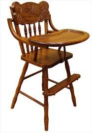baby furniture wood high chair amish sunburst back