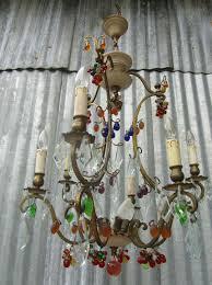 italiaanse crystal murano fruit chandelier kristallen kroonluchter antieke vintage