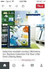 monsters inc crib set monsters inc bedding set baby boy monster truck toddler bed sheets little