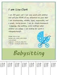 babysitting schedule template simple tear off flyer design babysitting flyer template