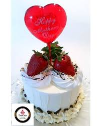 Huge Deal On Mothers Day Gift Vanilla Cream Strawberry Cake With