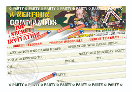 your able birthday party invitation nerfguncommandos party invite