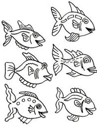 Small Picture Fish Coloring Pages For Kids Preschool Crafts Fish Coloring