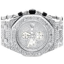 Diamond Simulated Watch Ap-01 - Walmart Out Unlimited Iced com Steel Stainless Jewelry