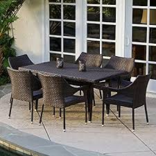 outdoor patio wicker chairs. 7-piece outdoor wicker dining set with stacking chairs patio \