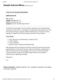 Memo Letter Examples How A Business Is Different From Free Sample