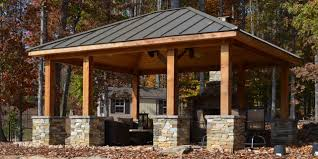 Closed Gazebo Designs Covered Outdoor Pavilion Stone It Would Be Nice If One