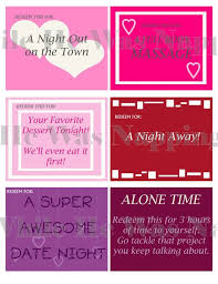 Love Coupons For Him For Her Digital Instant Download