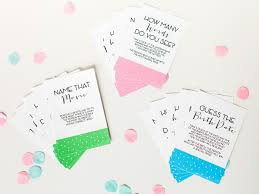 Baby Shower Games and Printable Game Cards | DIY