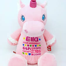 pink unicorn unique newborn baby gifts baby tots