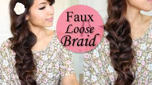 Plaiting Hair Style how to faux loose braid curly hairstyle for long hair tutorial 7763 by wearticles.com