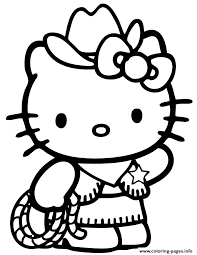 Small Picture Hello Kitty Country Cowboy Coloring Pages Printable