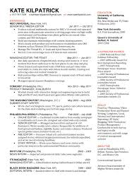 Sample Journalist Resume Format Broadcast Journalism Templates