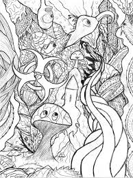 Small Picture Detailed Coloring Pages For Adults Trippy Doodle by