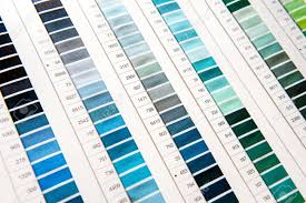 Color Chart For Clothes Detail Of Color Chart In Clothing Design Studio With Focus On