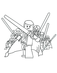 Free Star Wars Coloring Pages Printable Clone War Lego Chronicles