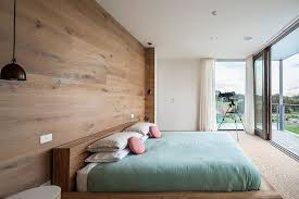 set design scandinavian bedroom. Scandinavian Bedroom Set And Metal Pendant Lights Wooden Box Bed Frame Wood Backdrop Panels Sliding Glass Door White Wall Painted Large Design U