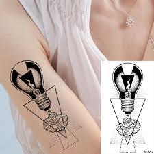 ванкиры черный геометрические временные татуировки наклейки лампы женщины руки