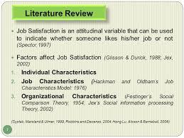 Job satisfaction literature review        Buy Original Essays online