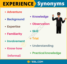 Experience Synonym 12 Useful Synonyms For Experience