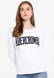 Abercrombie Muscle Fit Size Chart Seasonal Logo Crew Neck Sweatshirt