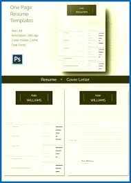 Free One Page Resume Template Resume Template One Page Emberskyme 17